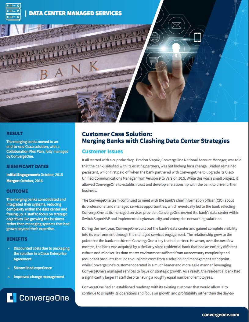 Managed Services Data Center Finance
